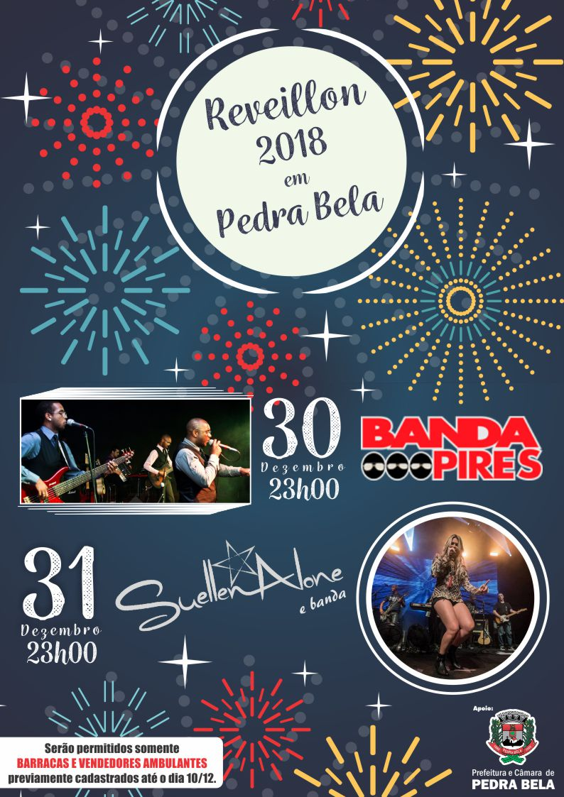 Cartaz Reveillon 2018 Pedra Bela