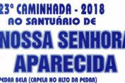 Cartaz Caminhada Bragança a Pedra Bela 2018